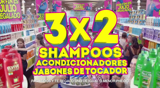 Julio Regalado 2015: 3×2 en Shampoos, Acondicionadores y Jabones de tocador