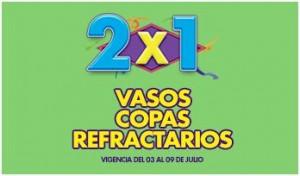 2x1 en vasos copas y refractarios