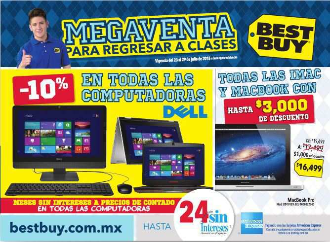 Best Buy: Folleto de Megaventa Para Regresar a Clases del 23 al 29 de Julio