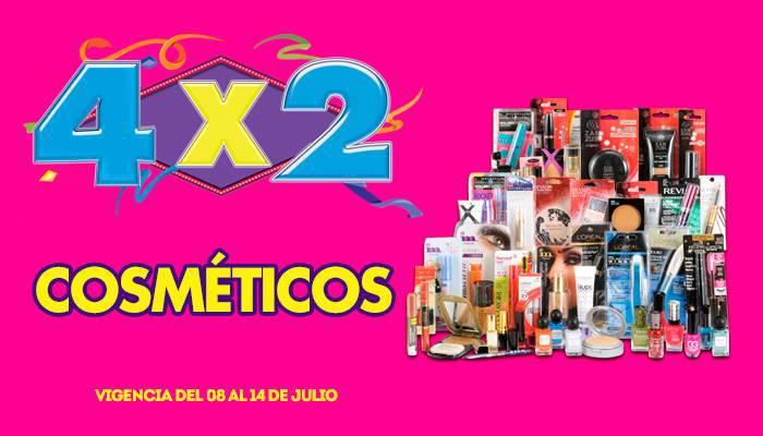 Julio Regalado 2015: 4×2 en Todos los Cosmeticos