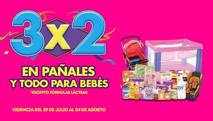 Julio Regalado 2015: 3×2 en Pañales y Todo Para Bebés