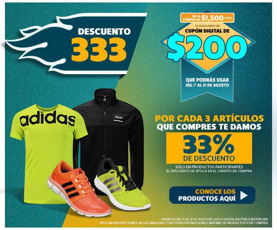 Netshoes: Descuento 333 Si Compras 3 Artículos Recibes 33% de descuento