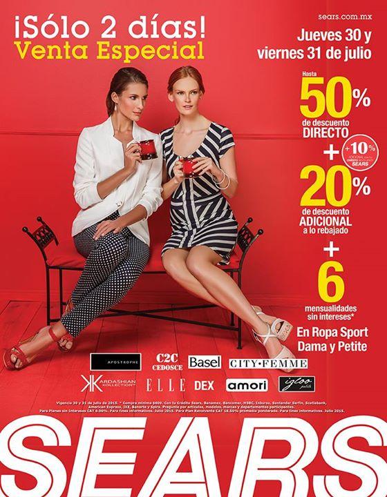 Sears: 2 Días de Venta Especial en Ropa Sport Dama y Petite