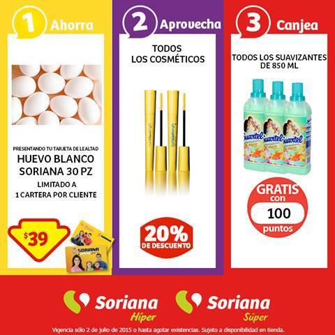 Soriana: Promoción Tarjeta Lealtad 2 Julio Huevo Blanco