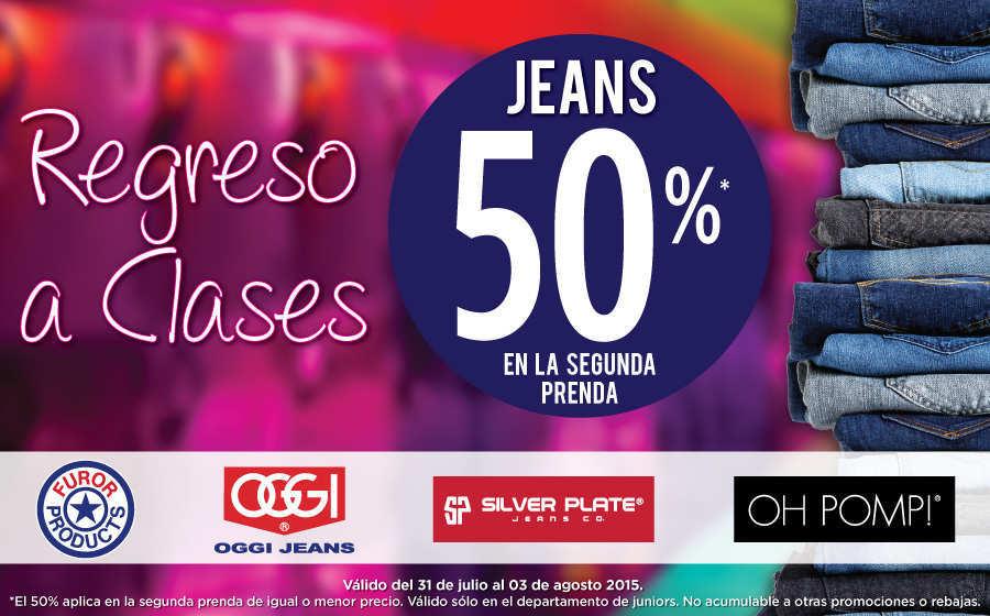 Suburbia: 50% de descuento en segunda compra en Jeans
