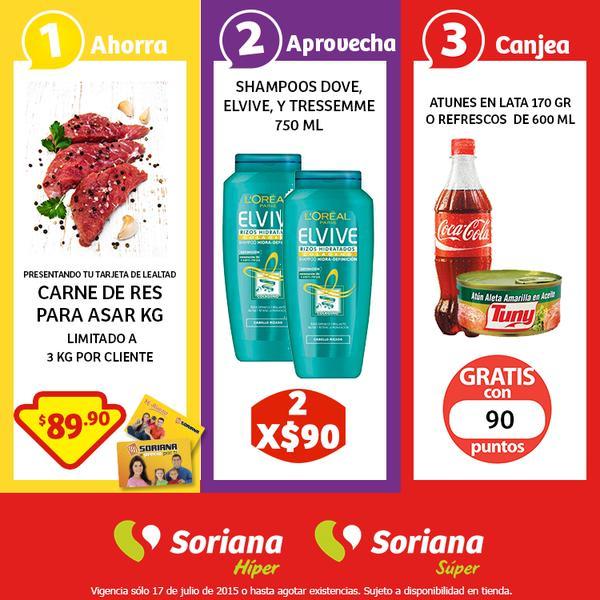 Soriana: Promoción Tarjeta de Lealtad Carne de Res para Asar 17 de Julio