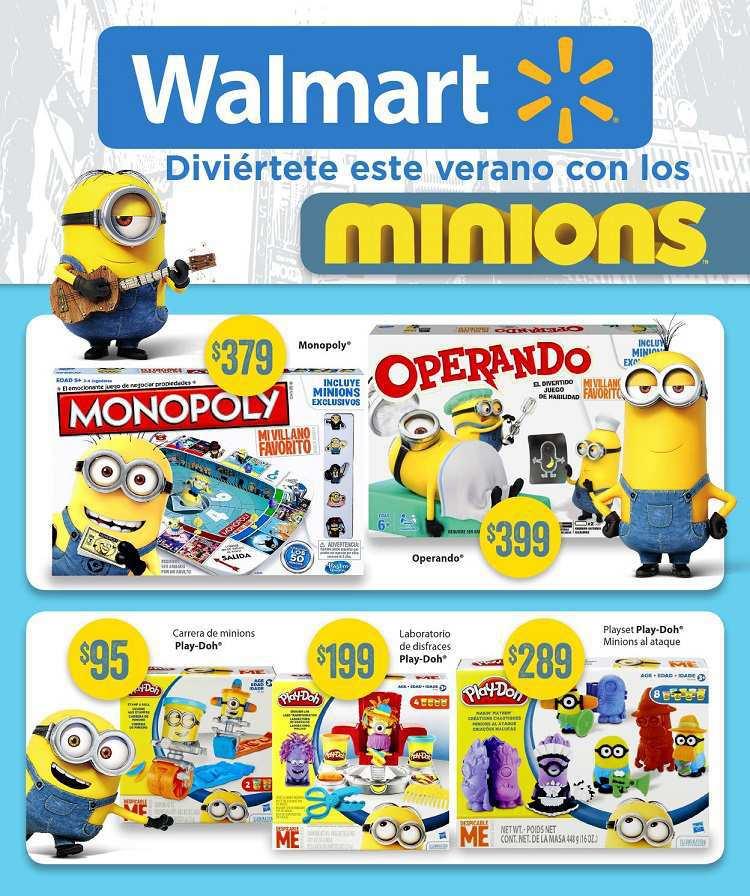 Walmart: Folleto Especial Minions del 9 al 31 de Julio