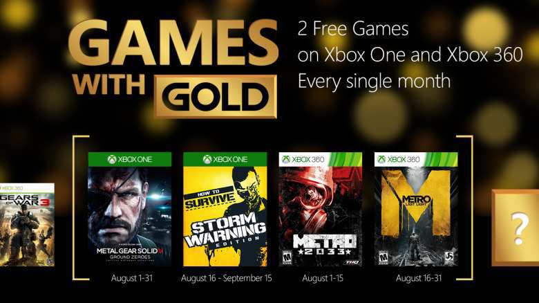 Xbox Live: Games With Gold Agosto 2015