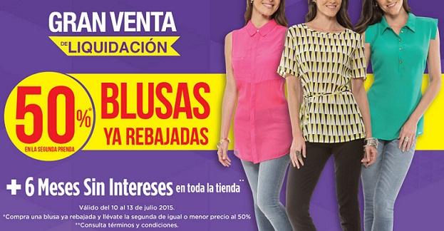 Suburbia: 50% de descuento en blusas ya rebajadas