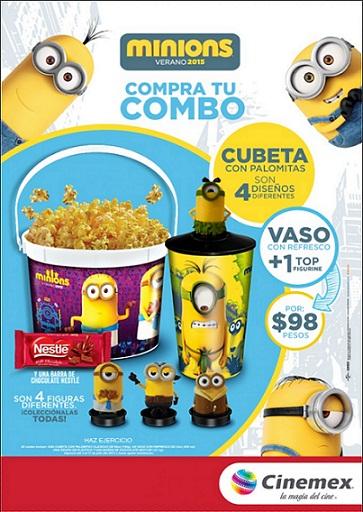 Cinemex: Combos Minions Verano 2015