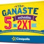 cinepolis 5 entradas al 2x1
