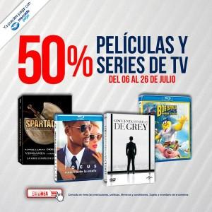 Blockbuster: 50% de descuento en Películas y Series Nuevas