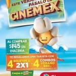 entradas gratis en cinemex del 2x1 al comprar en dulcería