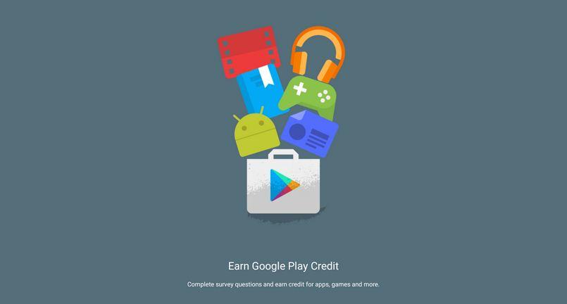 Google Opinion Rewards: Contesta la encuesta y gana Crédito para usar en Google Play