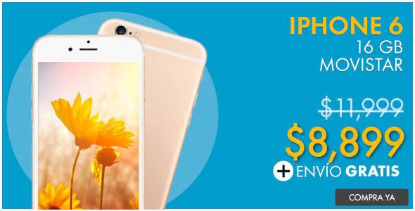 Linio: iPhone 6 16GB Movistar a $8,899