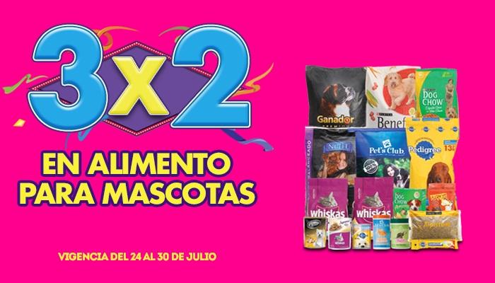 Julio Regalado 2015: 3×2 en Alimento para Mascotas