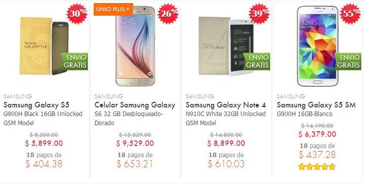 Linio: Samsung Galaxy S6 32 GB a $9,529 Envío Gratis y más