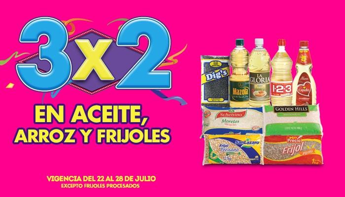Julio Regalado 2015: 3×2 En Frijoles, Aceites y Arroz del 22 al 28 de Julio