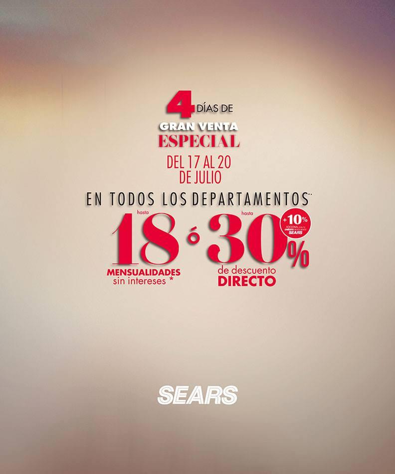 Sears: 4 Días de Gran Venta Especial del 17 al 20 de Julio