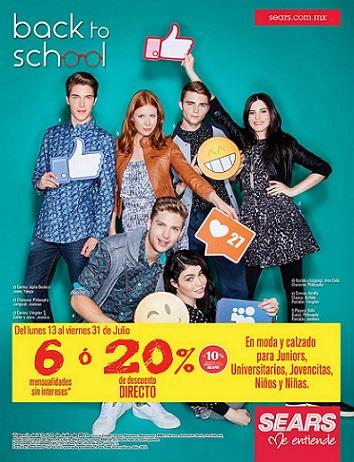 Sears: 20% de descuento en Moda y Calzado para Juniors, Universitarios, Jovencitas y más