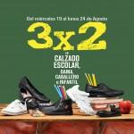 3x2 en calzado escolar