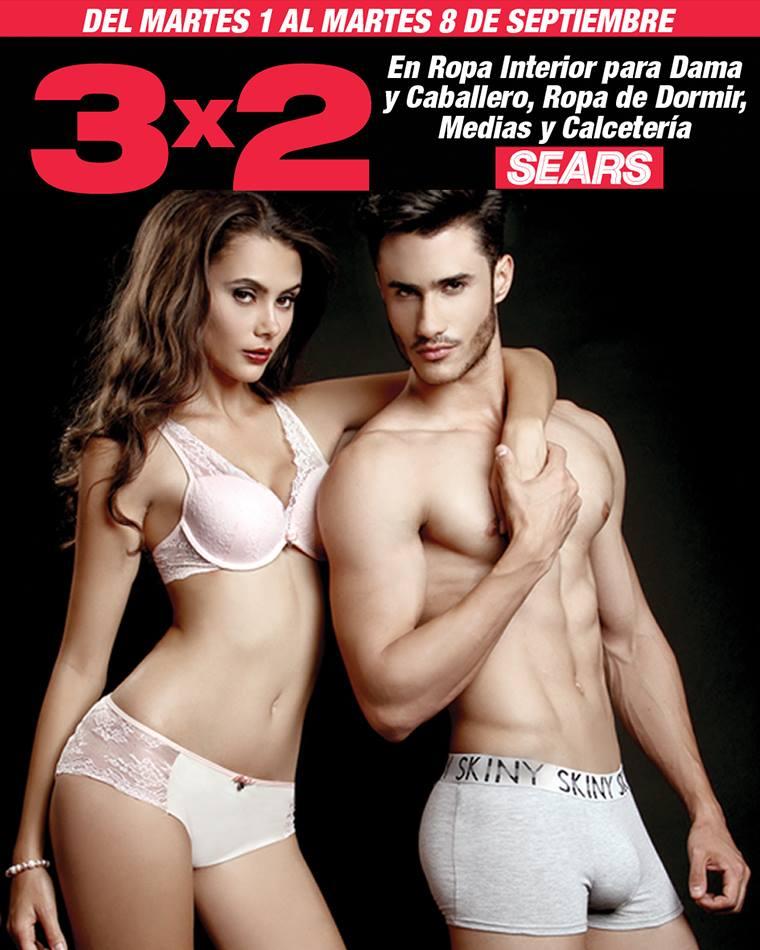 Sears 3 2 en ropa interior y de dormir para dama y for Ofertas de ropa interior
