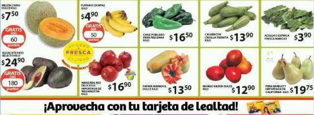 Soriana: Martes y Miércoles de Frutas y Verduras 4 y 5 de Agosto