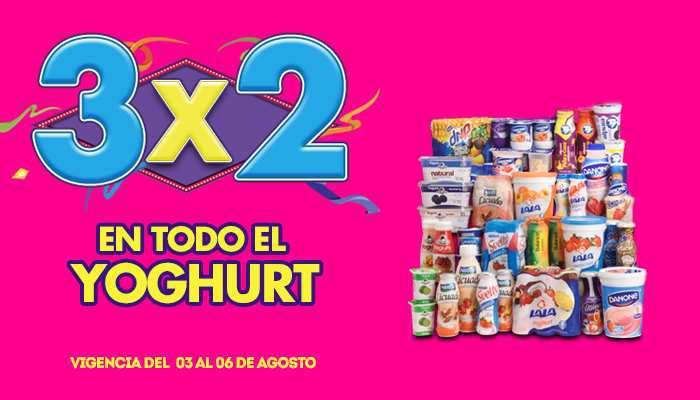 Julio Regalado 2015: 3×2 en Todo el Yoghurt