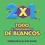 Julio Regalado 2x1 en Blancos