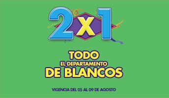 Julio Regalado 2015: 2×1 en Todo el Departamento de Blancos