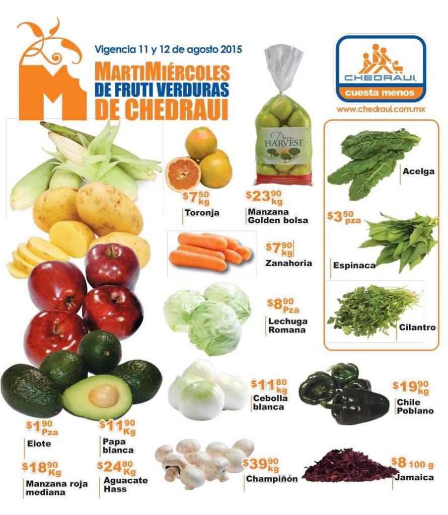 Chedraui: Martes y Miércoles de Frutas y Verduras 11 y 12 de Agosto