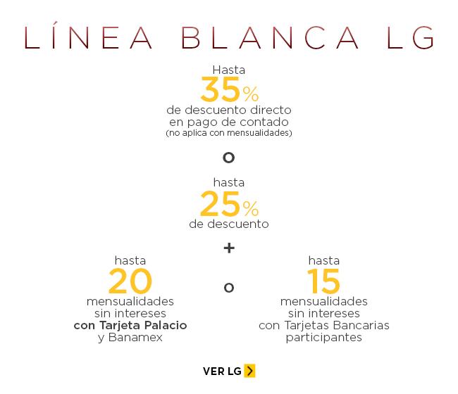 Palacio de Hierro: Hasta 35% de descuento en Línea Blanca LG