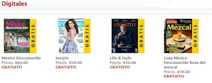 Sanborns: Revistas Digitales Gratis en Agosto Elle, Instyle y más.