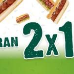 subway 2x1 el 3 de septiembre