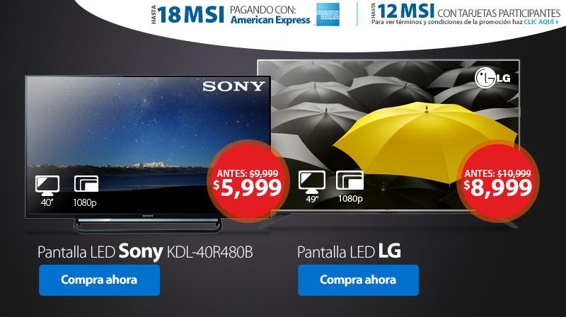 Walmart: Pantalla Sony 40″ FHD a $5,999 y más