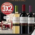 3x2 en vinos reservado