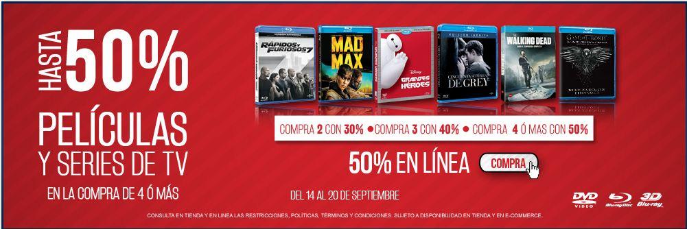 Blockbuster: Hasta 50% de descuento en Películas y Series de TV