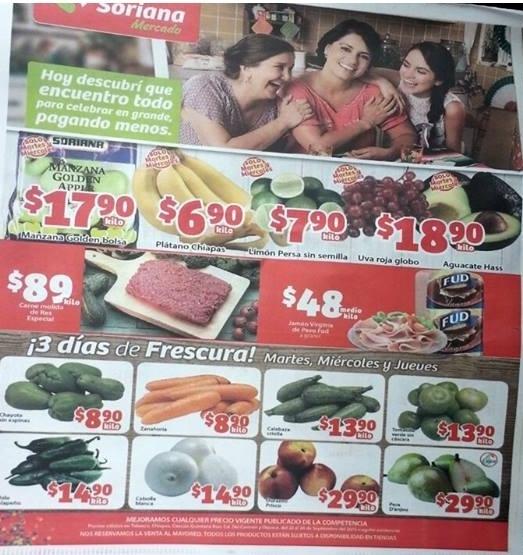 Soriana Mercado: 3 días de Frutas y Verduras del 22 al 24 de septiembre