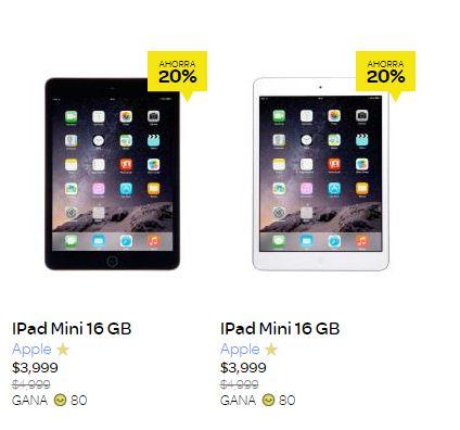 Clickonero: iPad Mini 16 GB a $3,999