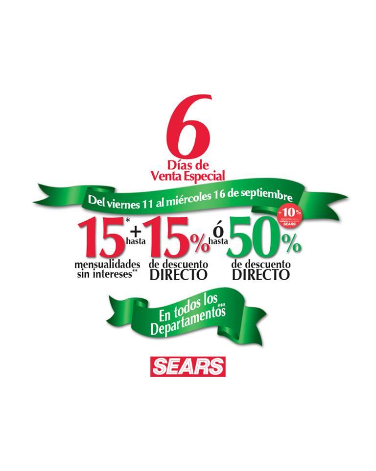08db461fc Sears  6 Días de Venta Especial del 11 al 16 de Septiembre
