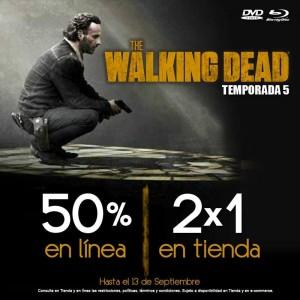 """Blockbuster: 2x1en Serie """"The Walking Dead"""" Temporada 5"""