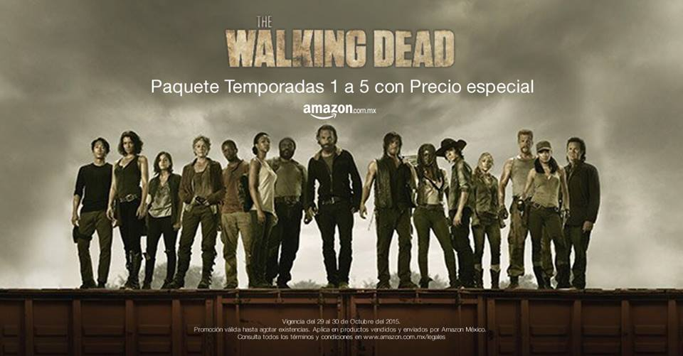 Amazon: The Walking Death Temporada 1 a 5 a $899 BD o $699 en DVD
