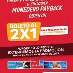 Cinemex 2x1 payback