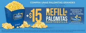 Cinepolis Refill palomitas OFFDE