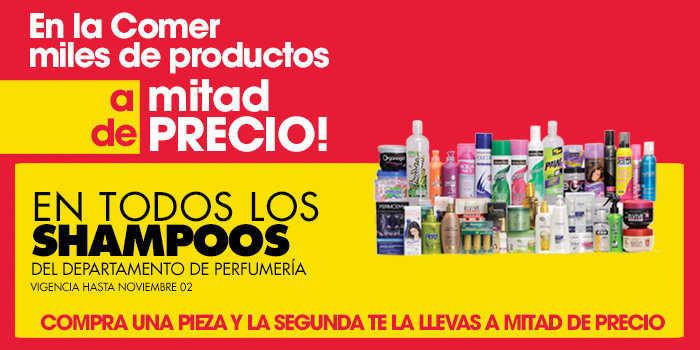 La Comer: 2×1 y medio en Shampoos, Dulcería, Detergentes, Tintes y Más