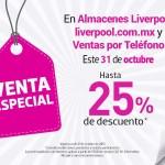Liverpool Venta Especial 31 octubre OFFDE