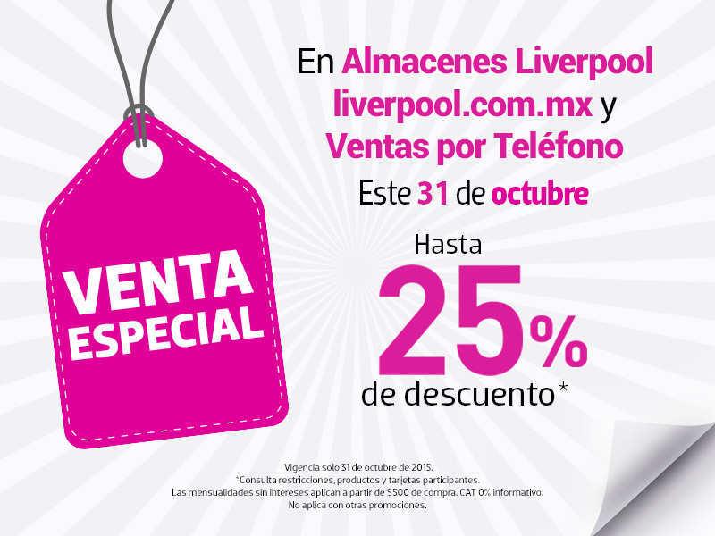 Liverpool Online: Venta Especial 31 de Octubre