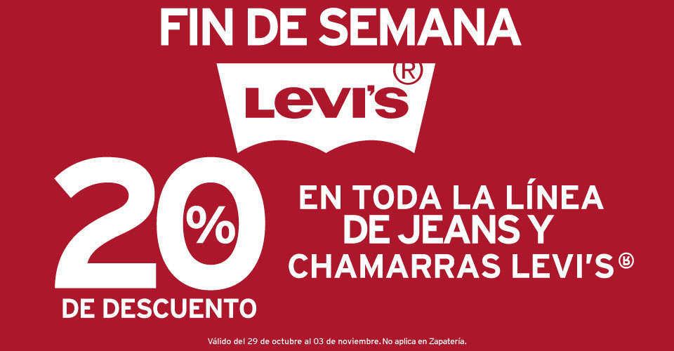 Suburbia: 20% en toda la linea de Jeans y Chamarras Levi's