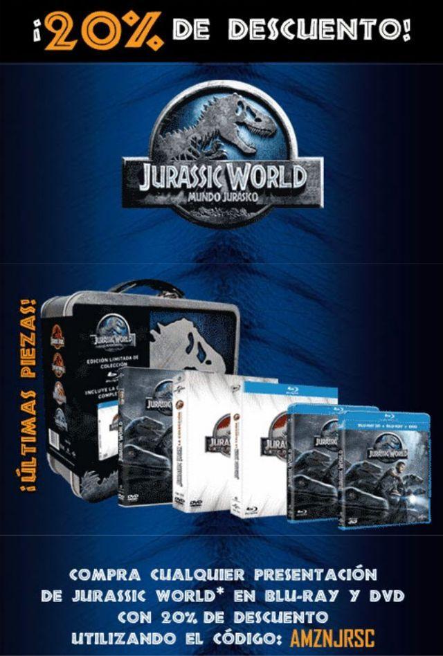 Amazon: 20% de descuento en Jurassic World, las 4 películas de Jurassic Park a $479