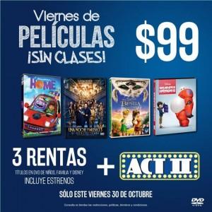 Blockbuster: Renta 3 películas infantiles y familia Disney por $99 más palomitas gratis